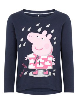 Shirt - Peppa Pig Longshirt blau - NAME IT MINI MÄDCHEN