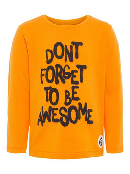 Shirt - dont forget orange - NAME IT MINI JUNGEN