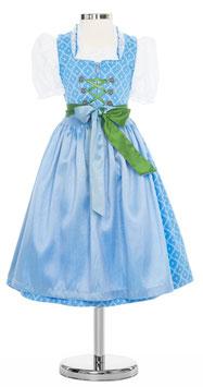 Kinderdirndl hellblau - apfelgrün - Tracht Mädchen