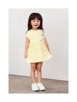 Kleid - gelb - Schmetterlinge - Biobaumwolle - Aktion - NAME IT MINI GIRL