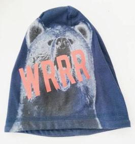 Kopfbedeckung - Mütze - Beanie - Wolf - blau - NAME IT MINI