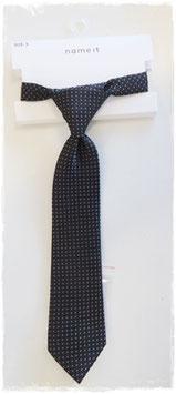 Krawatte schwarz weiß getupft - TAUFE - FESTMODE