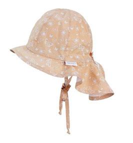 Kopfbedeckung - Flapper - vanille - mitwachsend - UV - SCHUTZ - Sterntaler