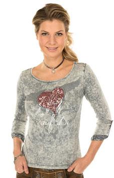 Shirt - Tracht- Marjo Trachten T-Shirt K30 FLIAGA asche
