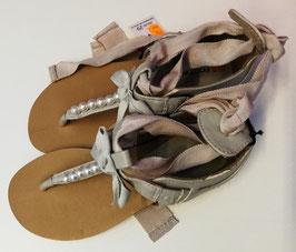Schuhe - Sandale beige lässig mit Bänder zum Hochschnüren