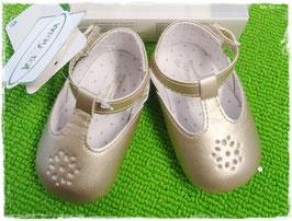 Schuhe - Babyschuhe -Taufschuhe champagne mit Riemen - TAUFE