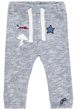 Babyhose mit Patchesmotiven in blau - NAME IT BABY JUNGEN