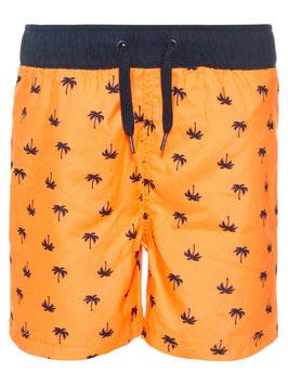Badehose mit Palmen - orange