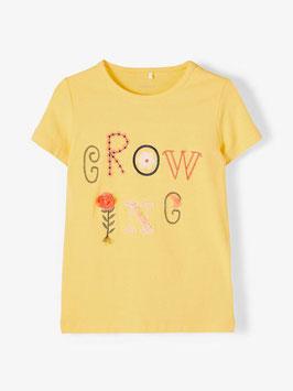 Shirt - Sunset Gold - Blume - GROW - NAME IT MINI MÄDCHEN