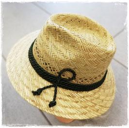 Kopfbedeckung - Sommer - Strohhut mit grüner Kordel