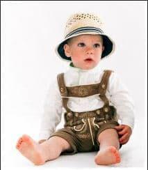 Tracht - Hose - Babytrachtenhose - naturbraun in  Baumwolle - superweich - mitwachsend  - Kindertracht - Babytracht