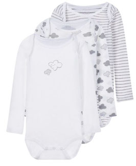 Baby - Body Aktion langarm mit Wolken & Elefant - NAME IT BABY JUNGEN