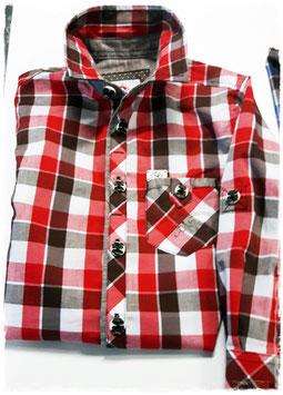 Tracht - Hemd - Kindertrachten Hemd spieth & wensky - rot braun- karo - Trachtenhemd