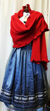 Strick Cape in rot - Tracht Damen