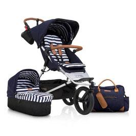 Kinderwagen - Mountain Buggy Urban Jungle - Nautical - Luxury Collection - 3 teiliges Set