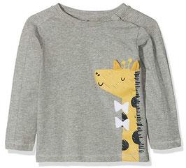 Babyshirt mit Giraffe grau mit Ohren - NAME IT BABY JUNGEN