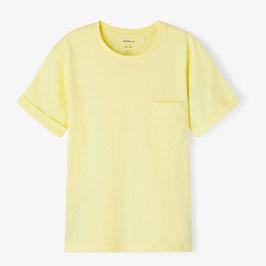 Shirt - gelb - basic - Biobaumwolle - NAME IT KIDS MÄDCHEN
