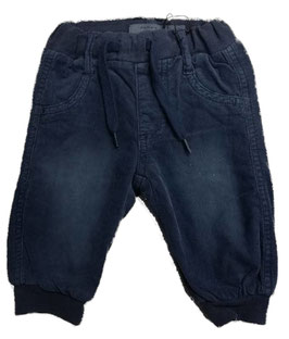 Hose - Babyhose - blau - Dark Denim - weiche Feincordhose - NAME IT BABY JUNGEN