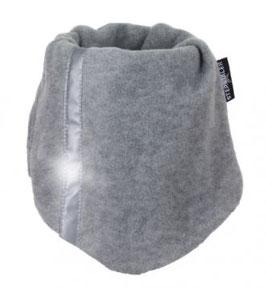 Kopfbedeckung - Schlupfschal mit Reflektorstreifen in silber meliert - Sterntaler