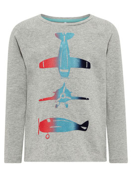 Fliegershirt grau - NAME IT MINI JUNGEN