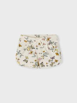 Short - kurz - BAUMWOLLE SHORTS - beige/Peyote Melange - Schmetterlinge - AKTION - NAME IT KIDS MÄDCHEN
