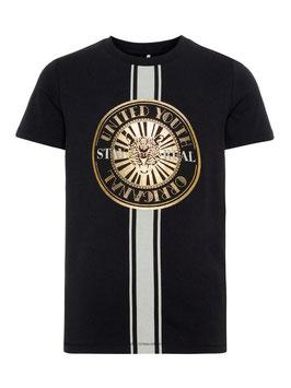 Shirt - schwarz - gold - Shirt cool - NAME IT KIDS JUNGEN