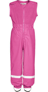 Regenhose mit Fleece-Latz in pink