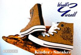 Schuhe - Trachtensneaker mit Innenzipp für Kinder - Kindertracht