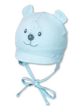 Kopfbedeckung - Schirmmütze himmelblau mit Gesicht - Sterntaler