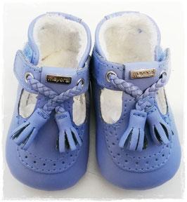 Schuhe - Babyschuhe - Mokassin hellblau - TAUFE - FESTMODE