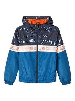 Jacke - Übergangsjacke blau-orange - NAME IT KIDS JUNGEN
