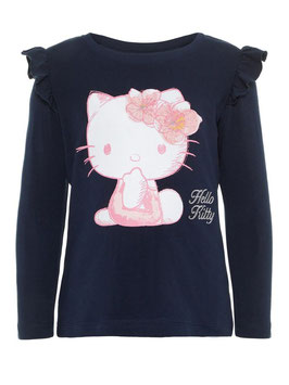 Shirt - Hello Kitty Shirt blau - NAME IT MINI MÄDCHEN