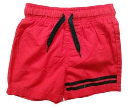 Hose - Badehose - kurz - Shorts - rot - blaue Streifen - NAME IT JUNGE