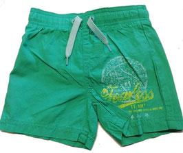 Hose - kurz - Badehose - grün mit Aufdruck Team - NAME IT MINI BOY