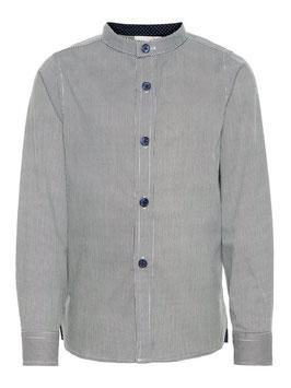 Hemd - Stehkrage Hemd  blau - weiß - NAME IT MINI JUNGEN