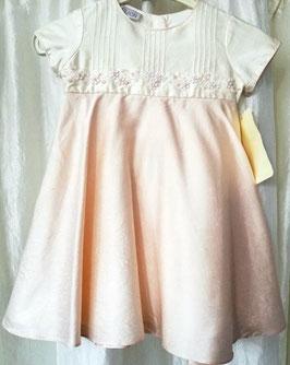 Kleid - Wildseidenkleid - ivory - rose - Festkleid