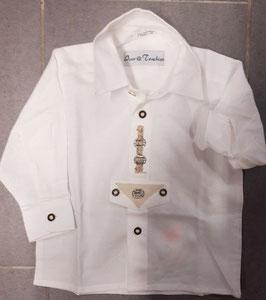 Tracht - Hemd - weiß mit Verzierung - Kinderhemd - Kindertracht