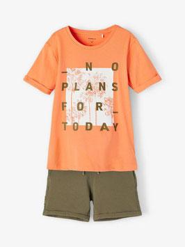 Somerset - AKTION - NO PLANS FOR TODAY - orange - kaki - NAME IT KIDS JUNGEN