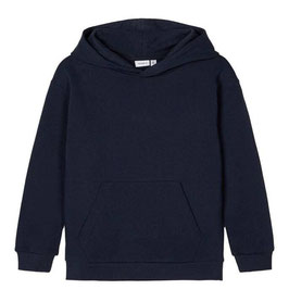 Sweater - Bio-Baumwolle - Aktion - Kapuze - Sweatshirt - dunkelblau - NAME IT KIDS