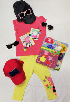Shirt- kurzarm - Peppa Wutz - pink - NAME IT MINI MÄDCHEN