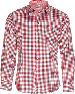 Hemd - Tracht - rot blau kariert - Trachtenhemd - Fa. Marjo