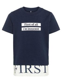Shirt - blau - First of all - NAME IT KIDS JUNGEN