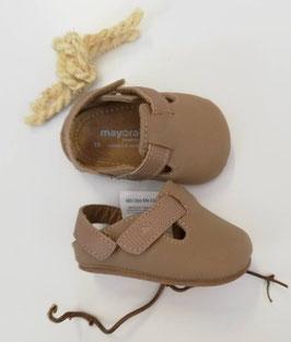 Schuhe - Babyschuhe  - naturbraun - Gr 15 - Taufe