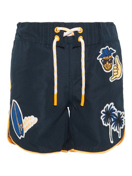 Bademode - Hose - Badehose - cool mit Patches - NAME IT MINI JUNGEN