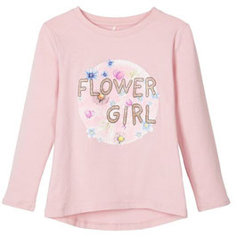 Shirt - Flower Girl Shirt rosa - NAME IT MINI MÄDCHEN
