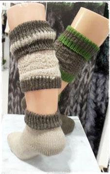 Socken - Trachtenloferl in beige -braun für Kinder - Kindertracht