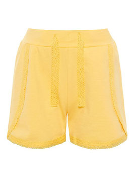 Short - kurz - Spitzen Hose kurz gelb - NAME IT MINI MÄDCHEN
