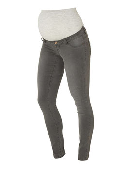 Umstandsjean  grau in Power Stretch