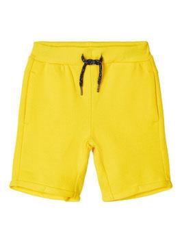 Short - Baumwoll Short gelb - NAME IT MINI JUNGEN