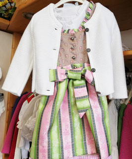 Tracht - Jacke - Trachten Strickjacke weiß für Mädchen - Tracht Mädchen